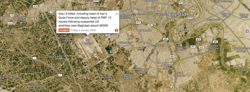 U.S. drone strike killed Iranian Major-General Qassem Soleimani at Baghdad International Airport (BGW)