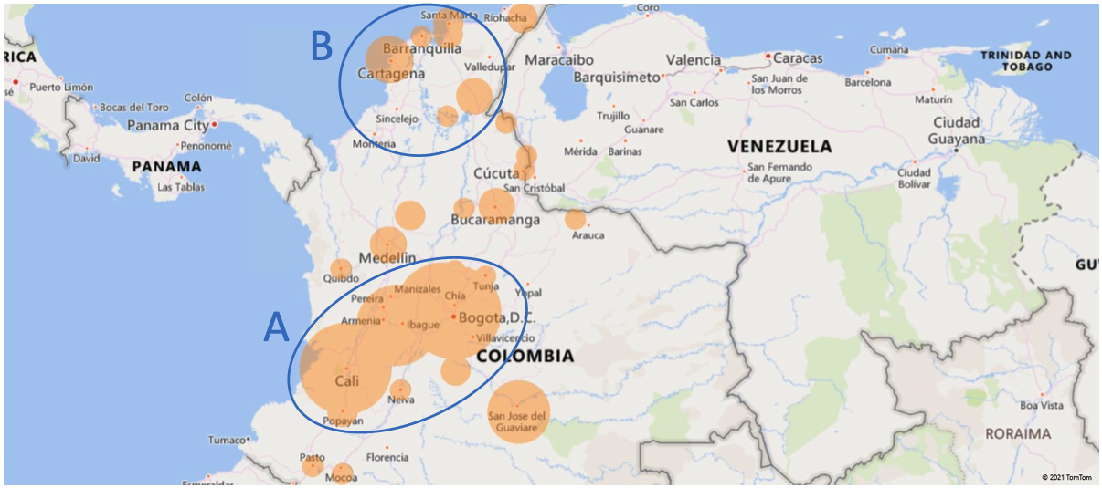 Civil Unrest In Colombia The Impact For Transport Logistics Hozint Horizon Intelligence